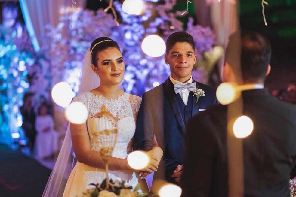 João e Maria se casaram no dia 12 de julho deste ano, em Cuiabá (Foto: Gabriel Bandeira)