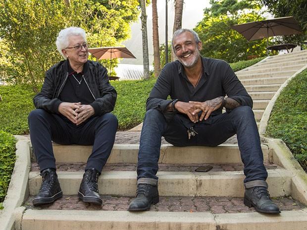 Aguinaldo Silva e Rogério Gomes (Foto: Estevam Avillar / Globo)