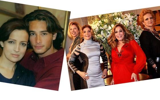 """Betty Lago e Rodrigo Santoro em """"Amor está no ar"""", em 1997, e """"Cinquentinha"""", em 2009 (Foto: Divulgação)"""