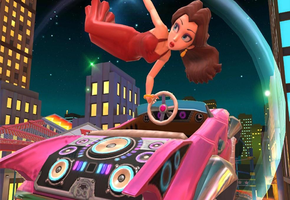 Pauline fará sua estreia na série em Mario Kart Tour após ganhar destaque em Super Mario Odyssey — Foto: Reprodução/Nintendo