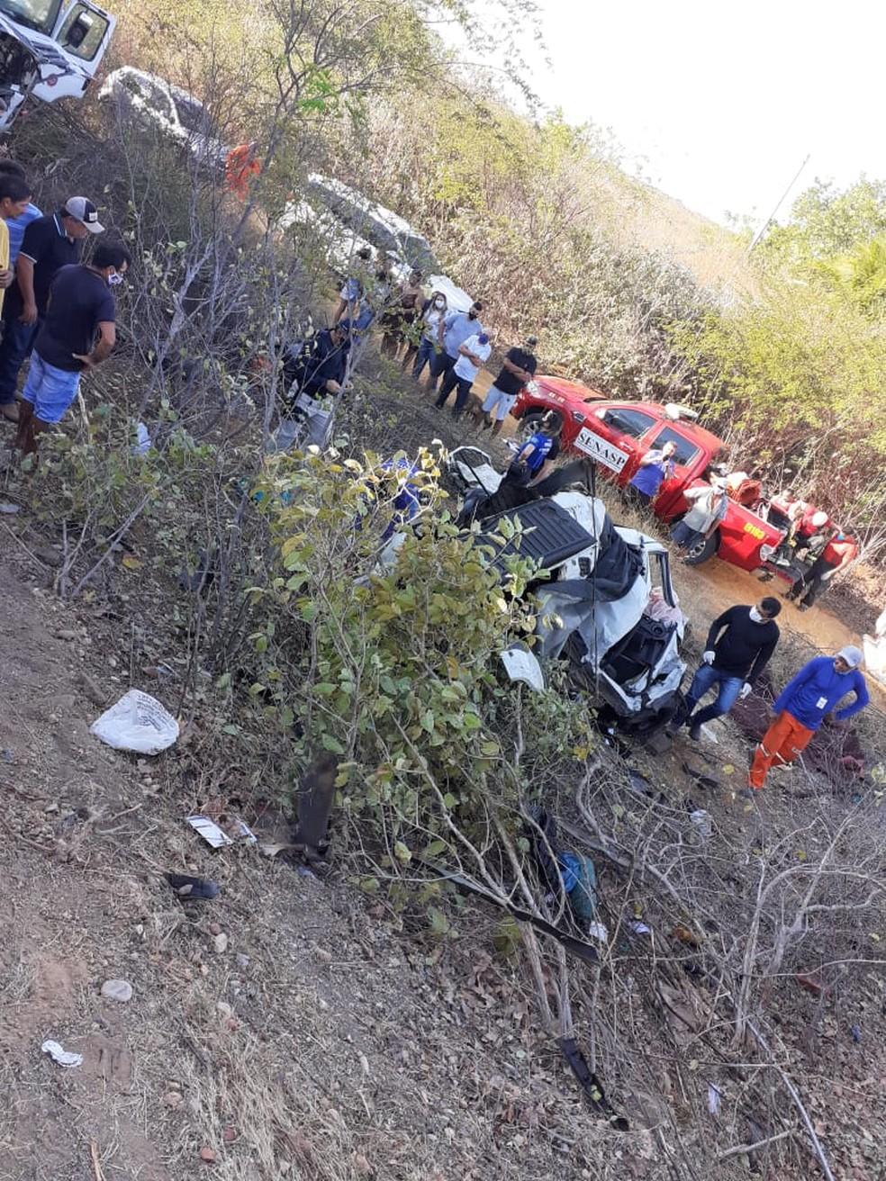 Acidente vitimou duas pessoas na BR-304 no RN — Foto: Rafael de Andrade/De olho no RN
