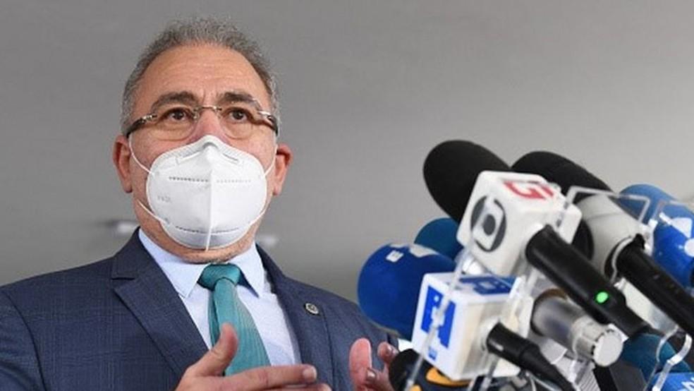 Fauci se reuniu recentemente com Marcelo Queiroga, o quarto ministro da saúde do Brasil durante a pandemia — Foto: Getty Images via BBC