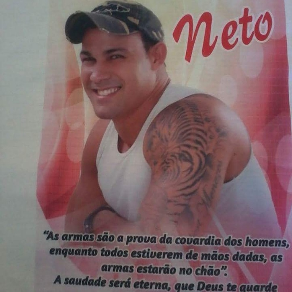 Hebert Menezes de Amorim Neto, de 33 anos, foi morto a tiros por PM, dentro de shopping, em Alagoinhas — Foto: Arquivo pessoal