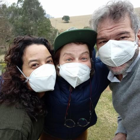 Maeve Jinkings, Carolina Marcowicz e César Bordón (Foto: Arquivo pessoal)