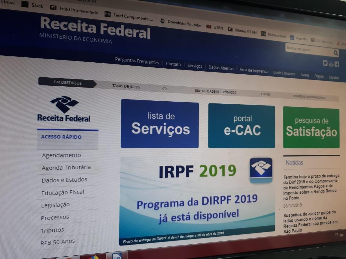 Declarações de Imposto de Renda recebidas pela Receita no RN chegam a 52% do esperado