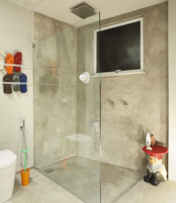 banheiro-concreto-decoracao-apartamento (Foto: MCA Estúdio/Divulgação)