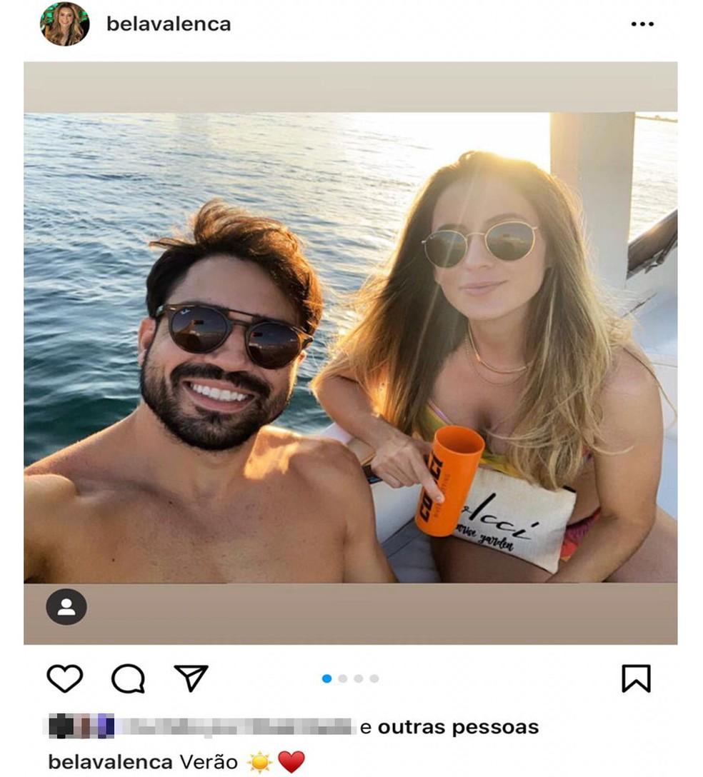 Mulher que matou companheiro a tiro em Salvador publicou foto do casal horas antes de crime — Foto: Reprodução/Redes Sociais