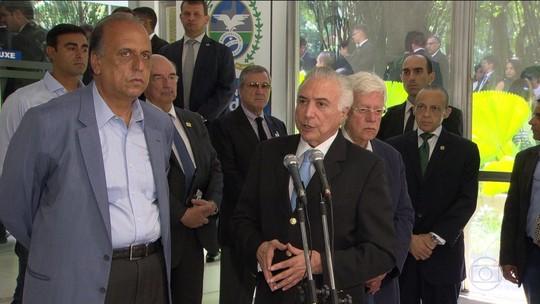 Reunião de Temer e Pezão acaba sem anúncio de detalhes da intervenção