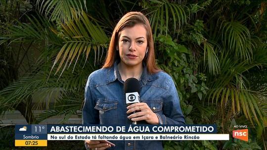 Limpeza em reservatórios compromete abastecimento de água em bairros de Balneário Rincão e de Içara