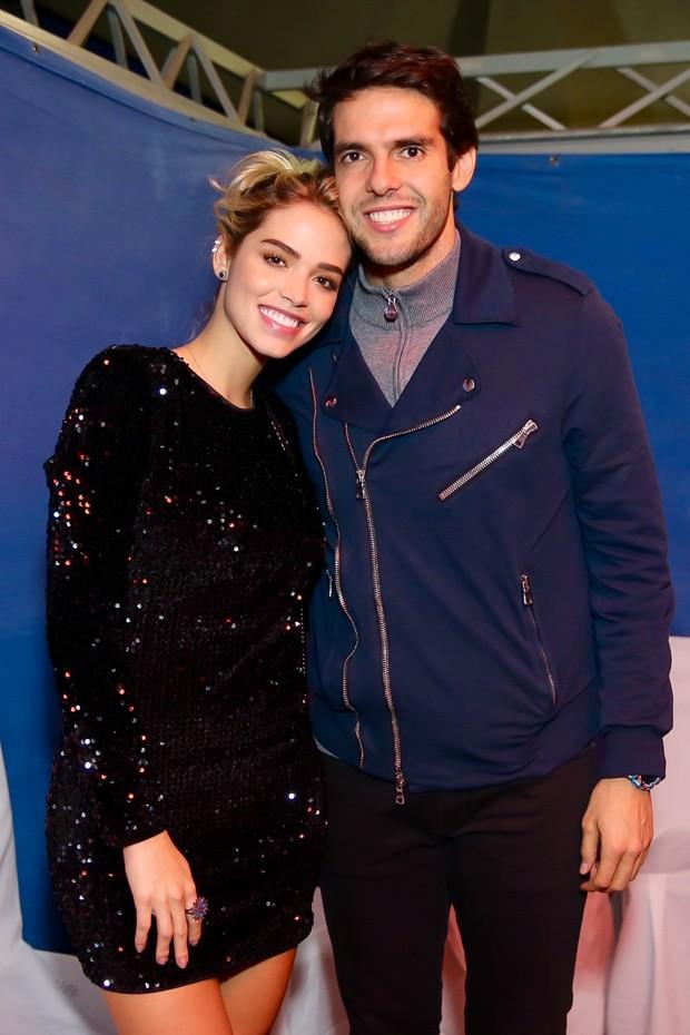 Kaká e Carol Dias no show de Anitta (Foto: Brazil News/Manuela Scarpa)