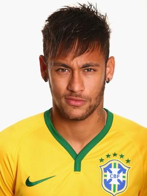 FOTO CRACHÁ Seleção brasileira - Neymar (Foto: Agência Getty Images)