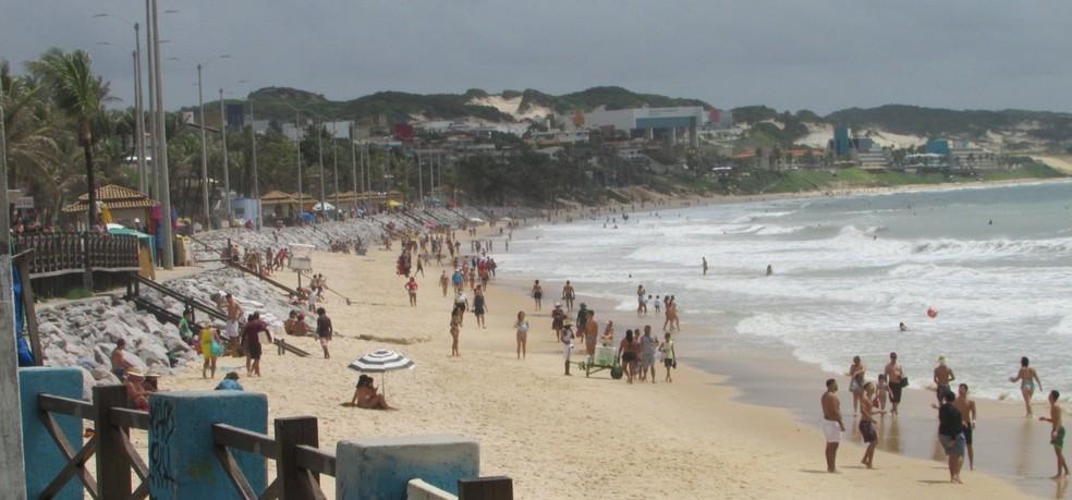 Praias registraram aglomerações, segundo Semurb — Foto: Semurb
