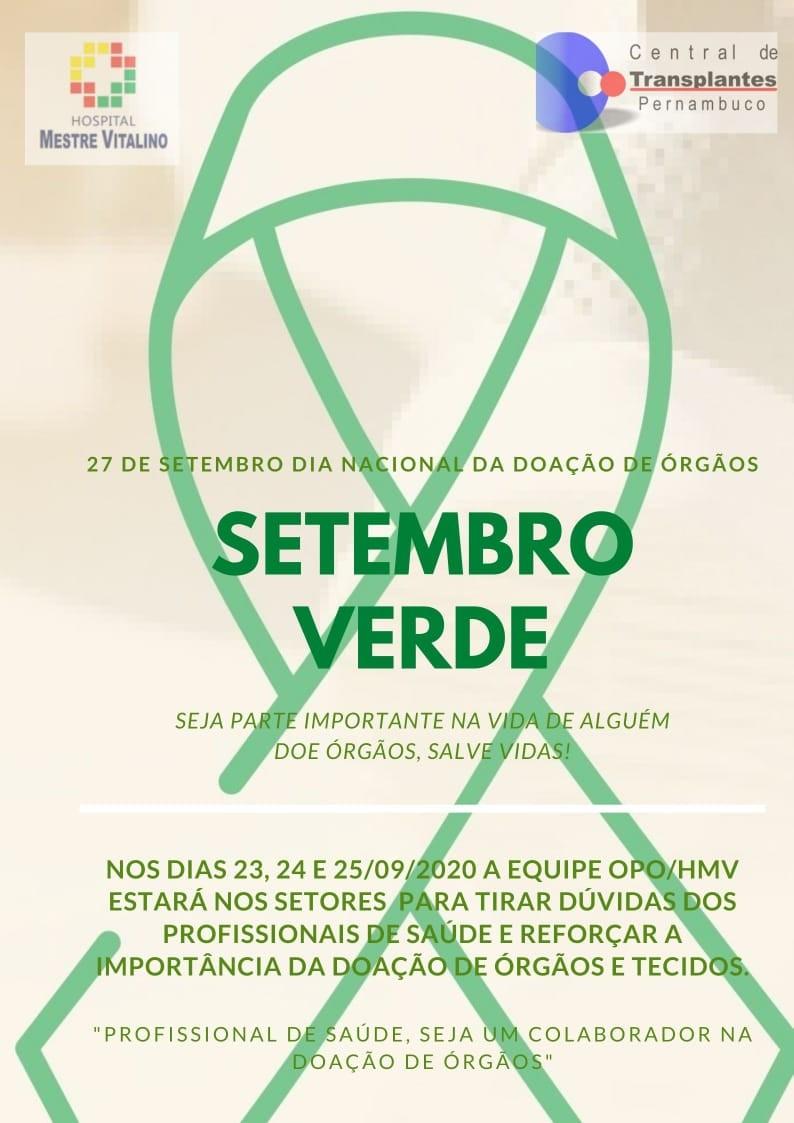 Hospital Mestre Vitalino celebra Dia Nacional da Doação de Órgãos com ação para colaboradores em Caruaru