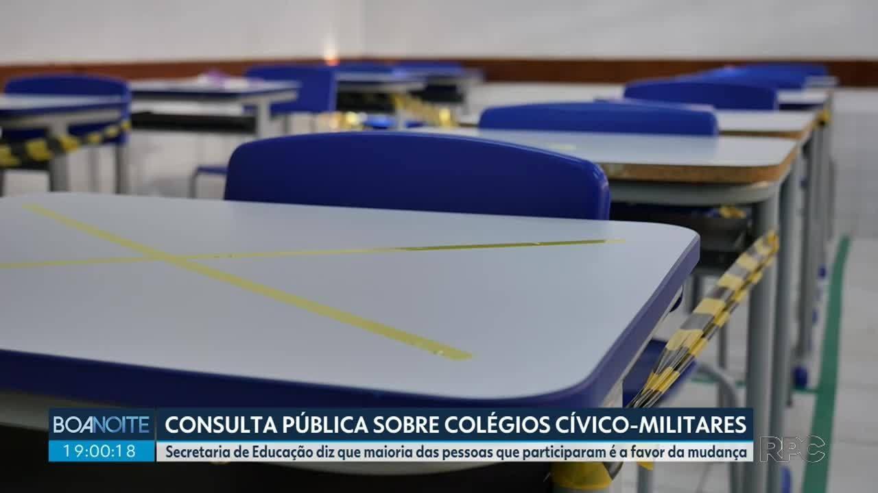 Mais de 50 mil pessoas já participaram da consulta pública sobre colégios cívico-militares