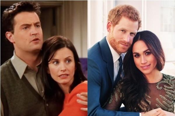 Monica e Chandler / Harry e Meghan (Foto: Divulgação )