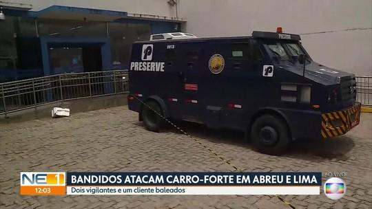 Assalto a carro-forte tem troca de tiros e deixa feridos no Grande Recife