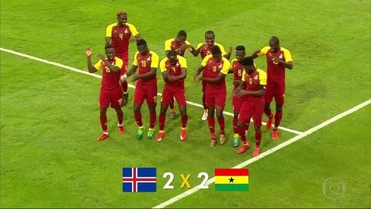 Seleção da Islândia empata com Gana em amistoso antes da Copa do Mundo