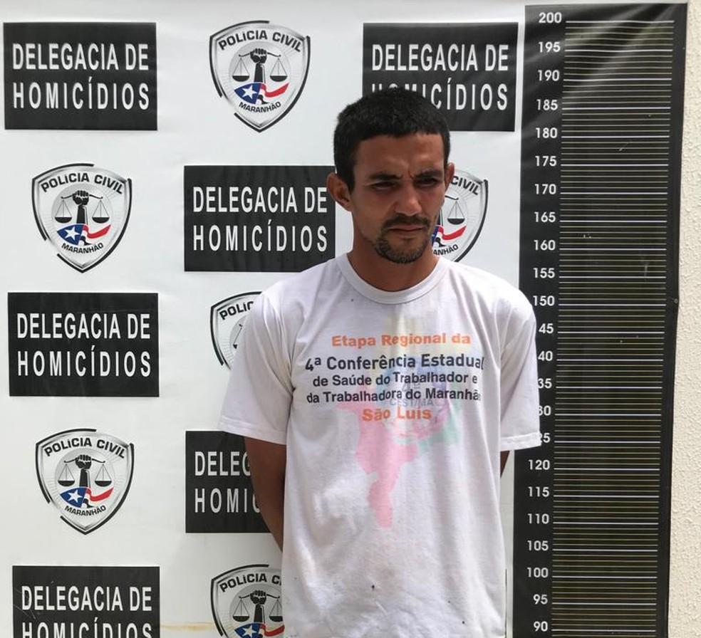 Marcos Vinicius Rocha, de 32 anos, foi preso por suspeita de feminicídio em São José de Ribamar (MA). — Foto: Divulgação/Polícia Civil do Maranhão