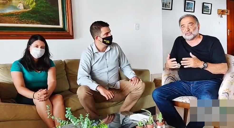 Prefeito de São Lourenço aparece em vídeo defendendo o tratamento precoce contra a Covid-19 — Foto: Reprodução / Redes Sociais