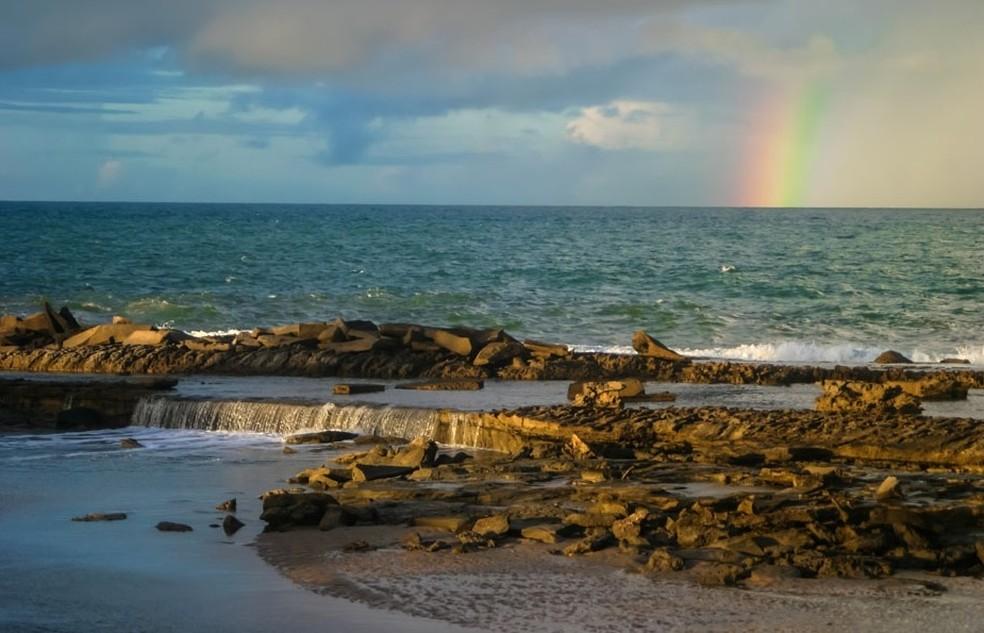 Praia de Barreta fica no litoral Sul potiguar, na cidade de Nísia Floresta (Foto: Canindé Soares)