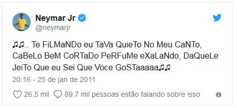 Neymar resume em um tuíte o signo de libra (Foto: Reprodução / TwitterNeymar, Titter)