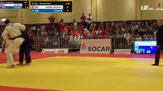 Nilo Carvalho perde na estreia e é eliminado do Mundial de Veteranos de judô. Igor Sousa é 7º
