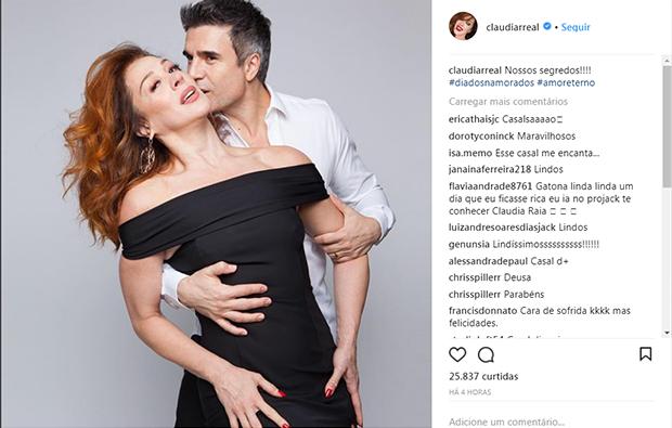 Claudia Raia e Jarbas Homem de Mello (Foto: Reprodução/ Instagram)