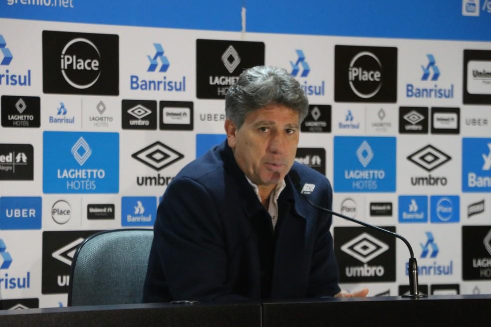 """Técnico do Grêmio diz que sai """"contente"""" com rendimento do time (Foto: Eduardo Moura)"""