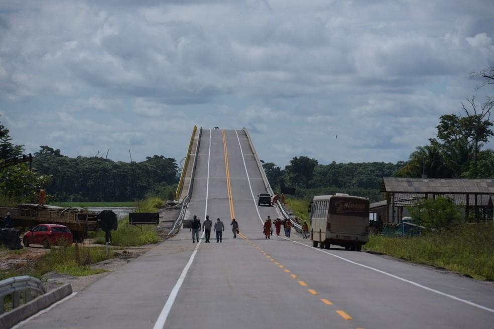 Ponte vai ser entregue no dia 7 de maio — Foto: Diego Gurgel/Secom-AC