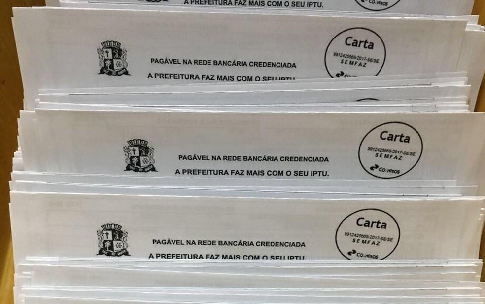 Cobrança de IPTU — Foto: Prefeitura de Aracaju/Arquivo
