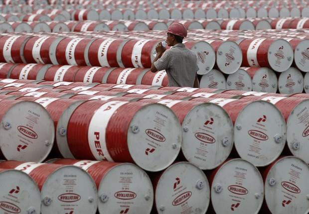 Barris de petróleo ;  (Foto: Reuters/Arquivo)