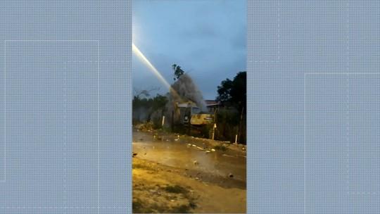 Adutora da Cedae rompe na Baixada Fluminense