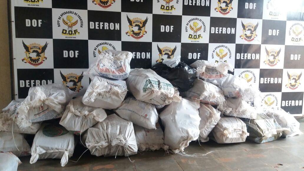 Traficante é preso em MS com 480 quilos de maconha que levaria para SP