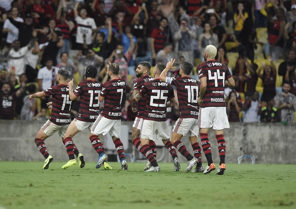 O trenzinho do imparável Flamengo no Campeonato Brasileiro 2019 — Foto: André Durão