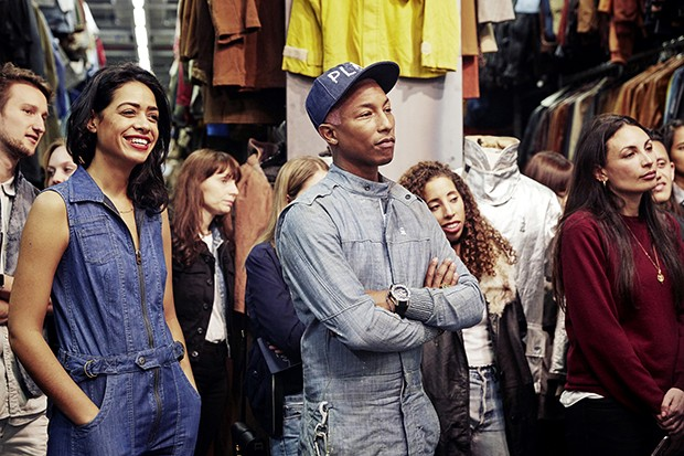 Pharrell with some of the G-Star RAW team (Foto: Divulgação)