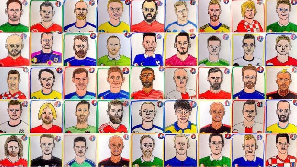 864f86435926e ... Desenhos que Alex e Sian Pratchett fizeram durante a Eurocopa 2016   casal conseguiu arrecadar cerca