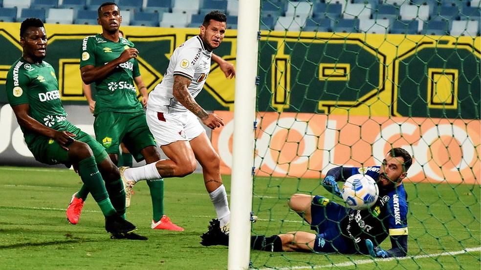 Bobadilla marcou gols em todos os jogos em que foi titular — Foto: Mailson Santana / Fluminense FC