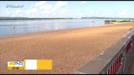 Praias artificiais de Altamira apresentam problemas estruturais