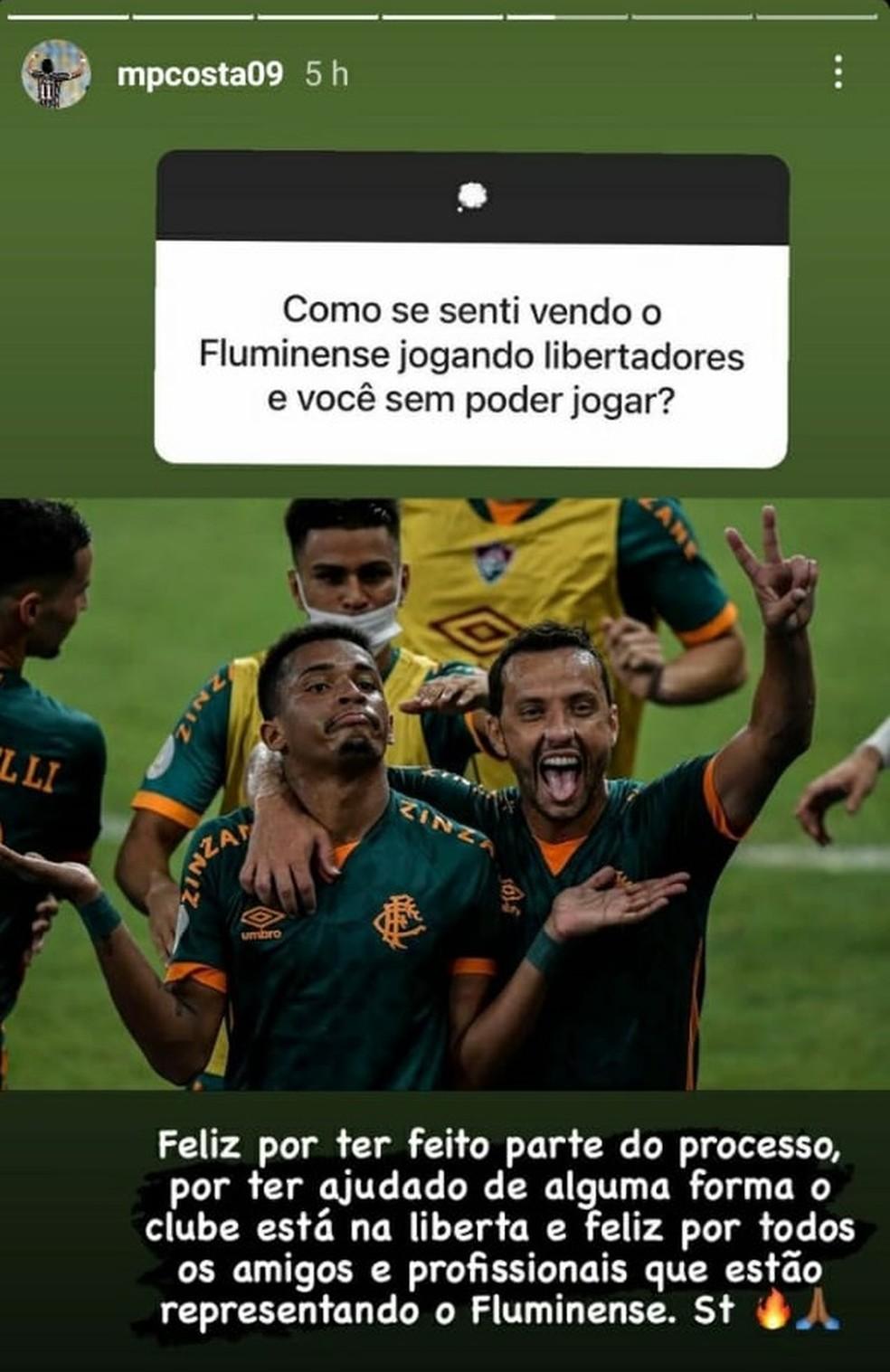 Marcos Paulo respondeu torcedor do Fluminense no Instagram — Foto: Reprodução / Instagram