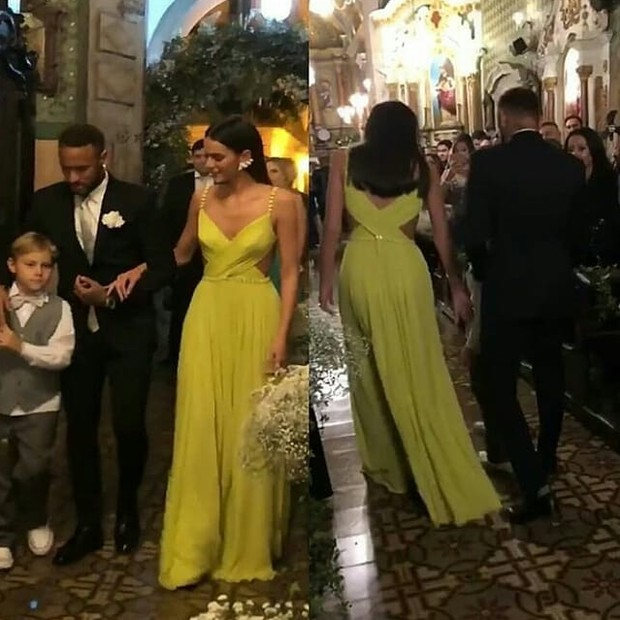 Neymar  e Bruna: padrinhos de casamento (Foto: Reprodução Instagram)