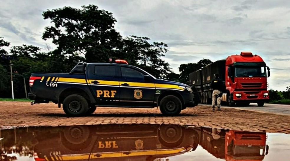Operação da PRF flagra motoristas que não cumpriram 'lei do descanso' em MT — Foto: PRF-MT