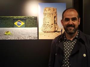 O brasileiro Renato Negrão, curador da exposição  (Foto: Flávia Mantovani/G1)