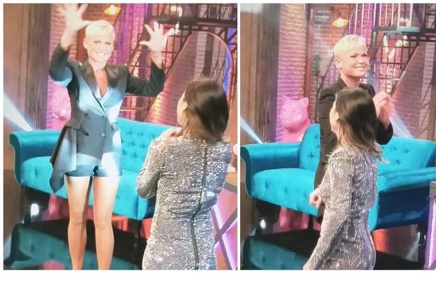 Xuxa Meneghel gravou um quadro em que brincará com a fonética do seu nome e da filha, Sasha Meneghel. No programa, a banda tocará ao fundo sucessos da carreira da loura (Foto: Reprodução/Instagram)