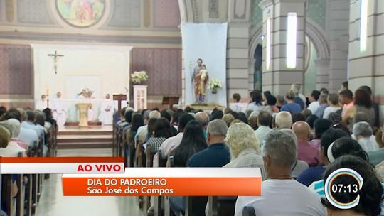 Fiéis celebram dia de São José, padroeiro de São José dos Campos