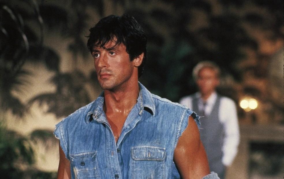 Sylvester Stallone no filme 'Falcão - O campeão dos campeões'. O ator foi acusado de abusar sexualmente de uma fã durante a produção do filme, lançado em 1987 (Foto: Divulgação)