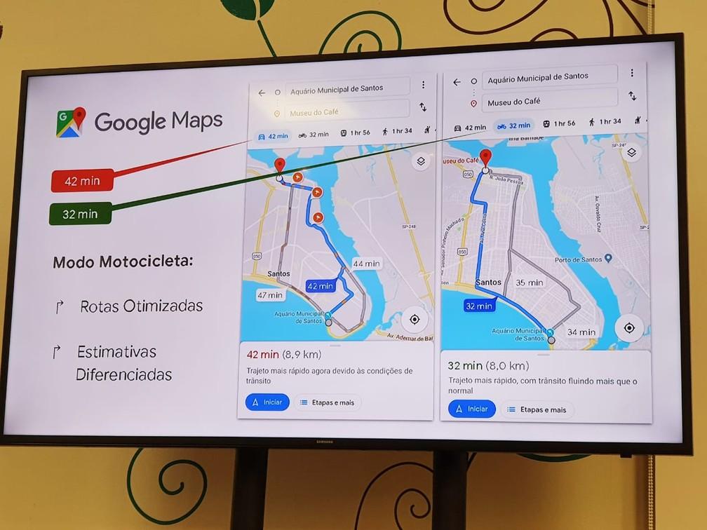 Google Maps lança navegação especial para motos — Foto: Mariane Rossi/G1