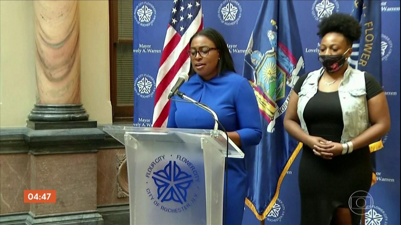 Suspensos 7 policiais envolvidos no sufocamento de homem negro em Rochester, Nova York