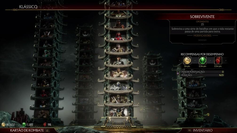 As famosas Torres de Mortal Kombat 11 — Foto: Reprodução / TechTudo