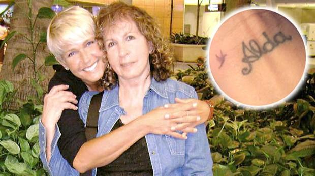Tatuagem de Xuxa em homenagem a mãe (Foto: Reprodução)