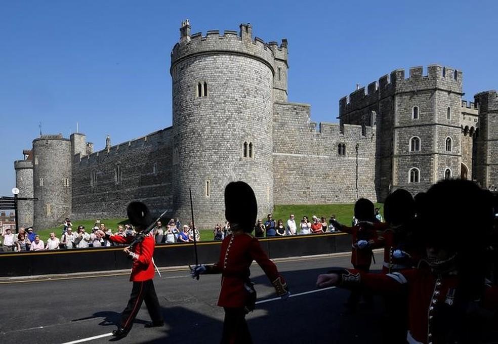 -  Castelo de Windsor, onde será realizado casamento do príncipe Harry com Meghan Markle  Foto: Toby Melville/Reuters